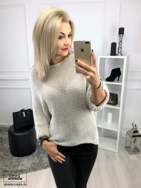 SWETER INFINITY BEŻOWY