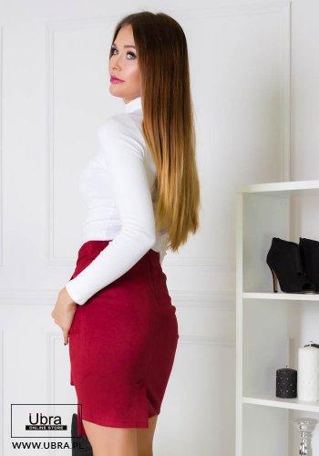 SPÓDNICA ELLIE BORDOWA - spódnica ołówkowa wiązana,