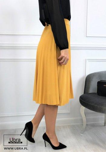 SPÓDNICA TIFA ZIELONA- spódnica, plisowana, rozkloszowana , na gumce