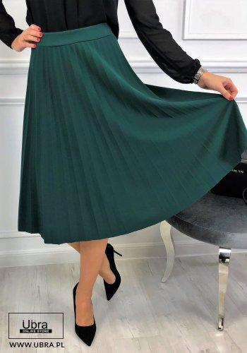 SPÓDNICA TIFA ZIELONA - spódnica, plisowana, rozkloszowana , na gumce