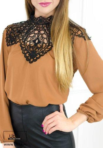 bluzka, koszula, koronka, zdobienia, modna, tania, hit, długi rękaw,
