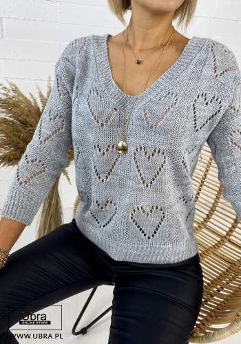 SWETER COLETTE SZARY