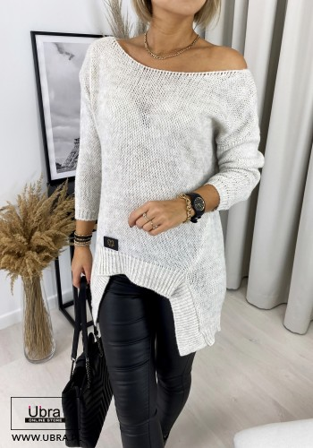 SWETER OLDI BEŻOWY