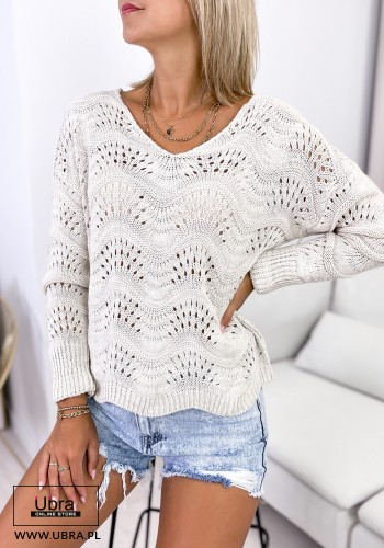 SWETER FLAMINGO BEŻOWY